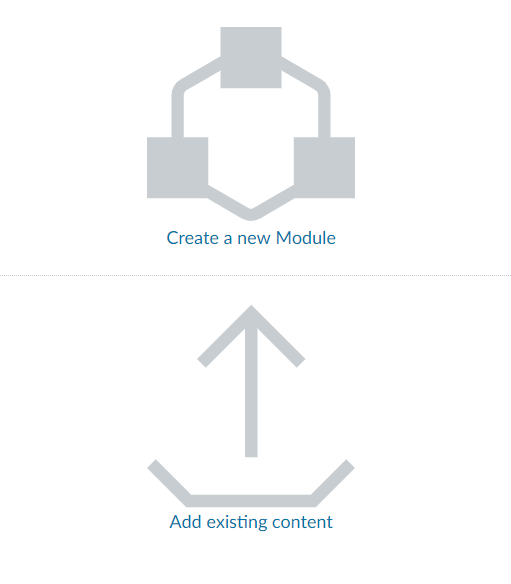 Picture of Import Content graphic in a blank Canvas course