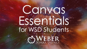 Canvas Essentials for WSD Students