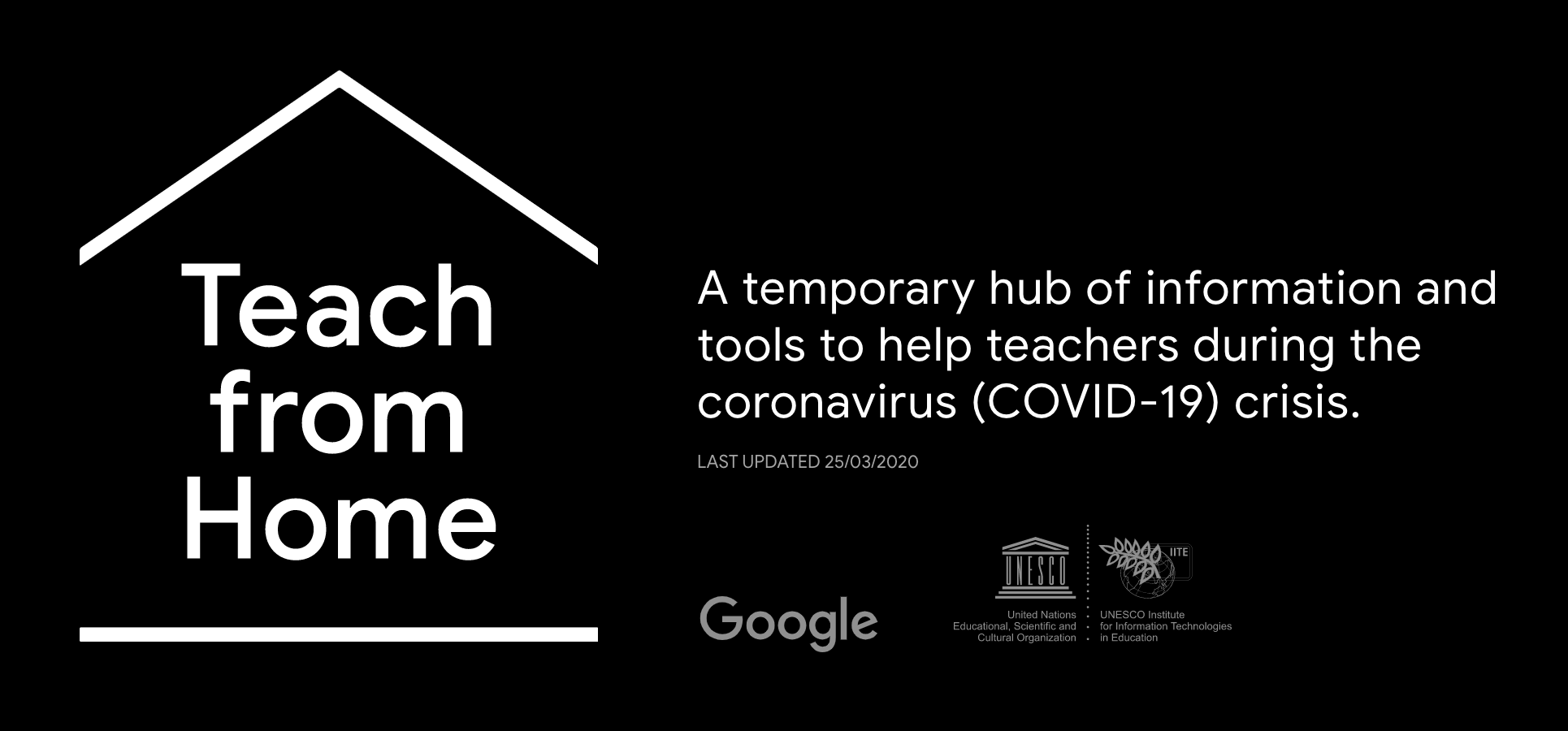 Linked pic of the Teach from Home logo